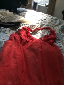 negligee on bed